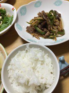 自宅での料理
